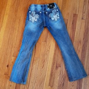 Miss Me Rhinestone Crested  Boot Jeans